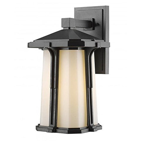 1 Light Outdoor Wall Light 542B-BK - llightsdaddy - Z-Lite - Outdoor Porch & Patio Lights