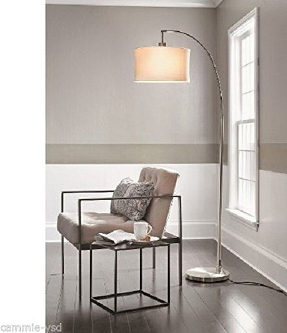 Threshold Arc Floor Lamp Brushed Silver - llightsdaddy - Threshold - Lamps