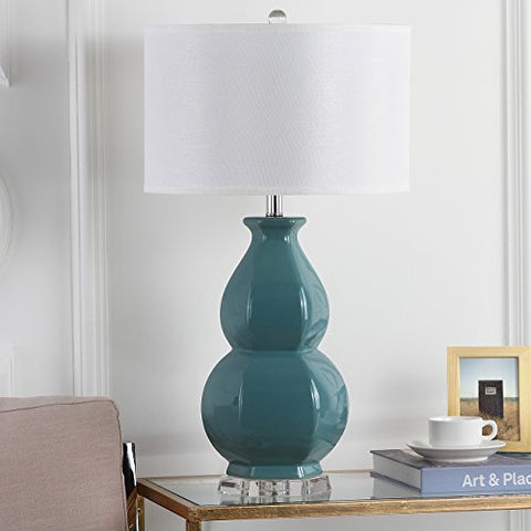 Safavieh Lighting Collection Juniper Egg Blue 30.25-inch Table Lamp