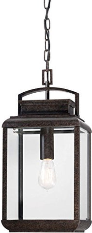 "quoizel brn1910ib byron outdoor lantern pendant lighting, 1-light, 100 watt, imperial bronze (21"" h x 10"" w)"