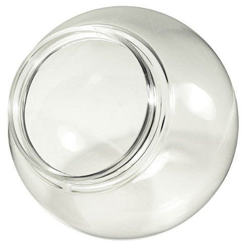 6 in. Clear Acrylic Globe - 3.25 in. Extruded Neck Opening - American 3202-50650 - llightsdaddy - Outdoor Gear & Hardware - Fixture Replacement Globes & Shades