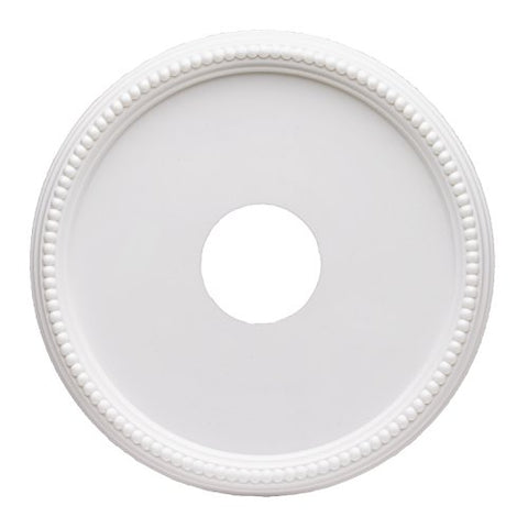 Westinghouse Lighting 7773300 15-3/4-Inch Round Beaded White Finish Ceiling Medallion