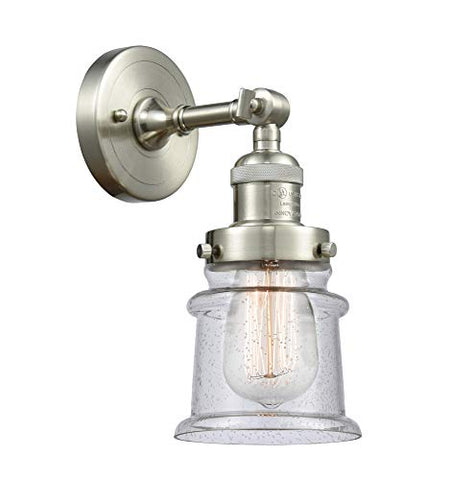 Innovations 203-SN-G184S Small Canton 1 Light Sconce Part of The Franklin Restoration Collection, Brushed Satin Nickel