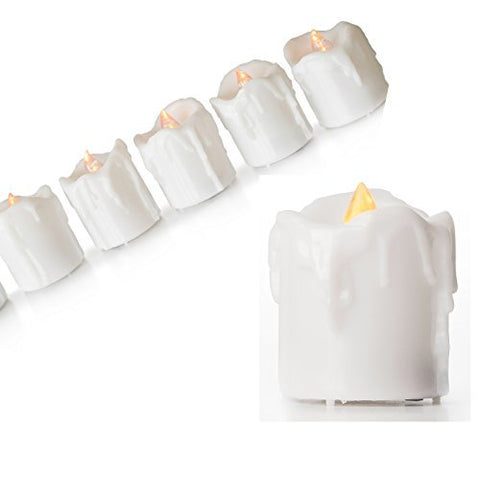 "CVC Flameless Candle Set with Timers - Battery-Operated White Candles - 1.75"" Votives with Individual 6-Hour Timers - Boxed Set of 6 - llightsdaddy - CVC - EG - Flameless Candles"