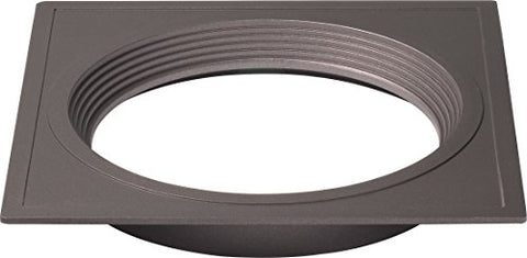 Satco S9536 Transitional Trim in Bronze/Dark Finish, 7.00 inches, Polished Nickel