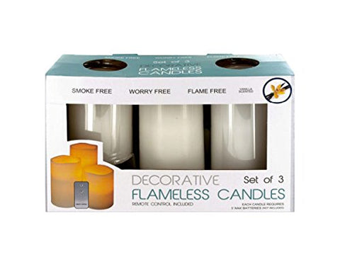 bulk buys OS332 Flameless Vanilla Candles with Remote Control White