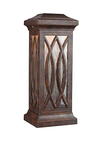 Murray Feiss Lighting OL14202WAL-LED Rolland - 22526W 1 LED Outdoor Wall Lantern Walnut Finish with Clear Water Glass