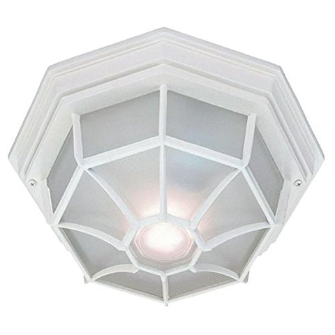 Acclaim 2002TW Flush Mount Collection 2-Light Ceiling Mount Outdoor Light Fixture, Textured White