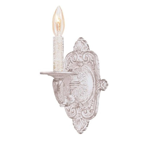 Crystorama 5111-AW Traditional One Light Sconces from Paris Flea Market collection in Whitefinish, 6.25 inches