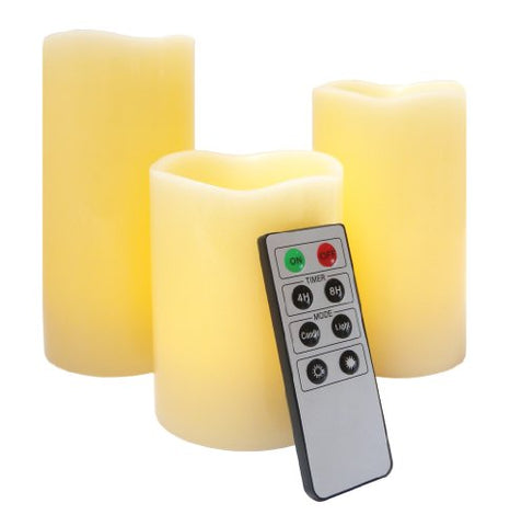 Flameless LED Candles - 3 Mooncandles with Remote Control - llightsdaddy - FRF - Flameless Candles