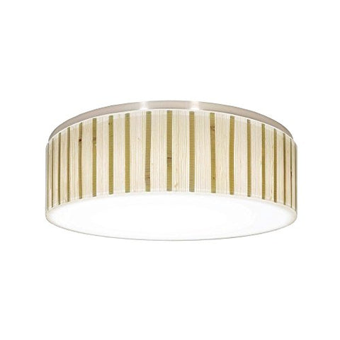 Decorative Recessed Ceiling Light Trim with Bamboo Drum Shade - llightsdaddy - Dolan Designs - Ceiling Lights