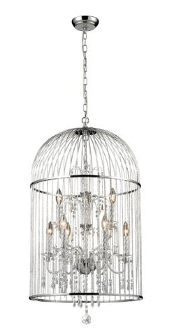 9 Light Crystal Chandelier 887CH - llightsdaddy - Z-Lite - Chandeliers