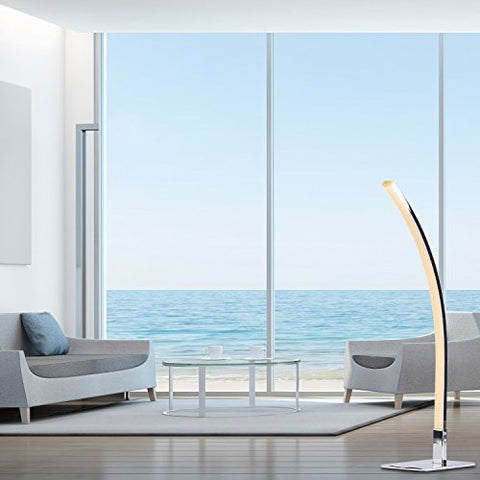 LED Floor Lamp- Arc Shape- Chrome finish- 4000k White Light - llightsdaddy - Finesse Decor - Lamp Shades