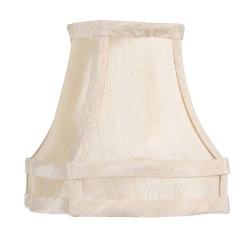 "Livex Lighting S284 Fancy Square Silk Clip Chandelier Shade, 1"" x 1"" x 1"", Champagne"