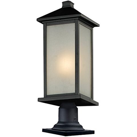 Z-Lite 547PHBR-533PM-BK Outdoor Pier Mount - llightsdaddy - Z-Lite - Post Lights
