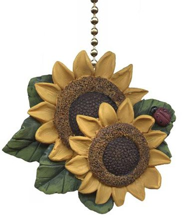 Clementine Designs Sunflower Ladybug Floral Kitchen Ceiling Fan or Light Pull - llightsdaddy - Clementine Designs - Pull Chains
