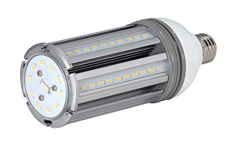Satco S9671 22 Watt (100 Watt HID Equivalent) 2,680 Lumens Length 7.68 inches Diameter 2.75 inches Non-Dimmable LED Warm White 2700K Medium Base Ballast by-pass 100-277 Volt, Approved for Totally Enclosed Fixtures