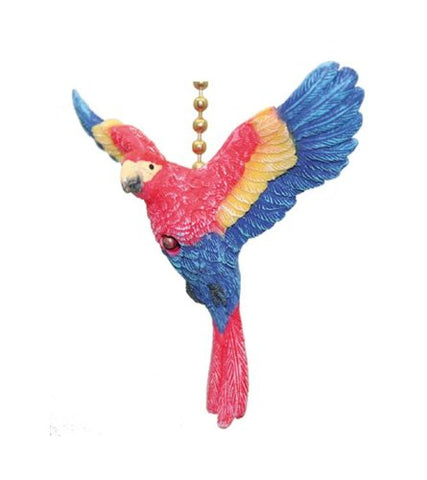 TiKi Tropical Macaw Parrot Bird Ceiling Fan Light Pull - llightsdaddy - Clementine Designs - Pull Chains