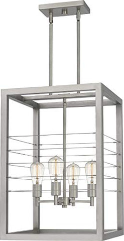 Quoizel AWD5216AN Awendaw Modern Pendant, 4-Light 400 Watts, Antique Nickel