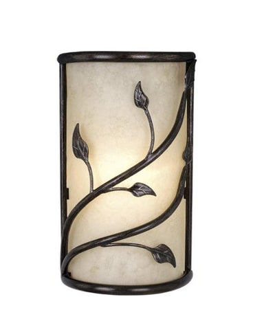"Vaxcel WS38865OL Vine Wall Sconce, 10"", Oil Shale Finish"