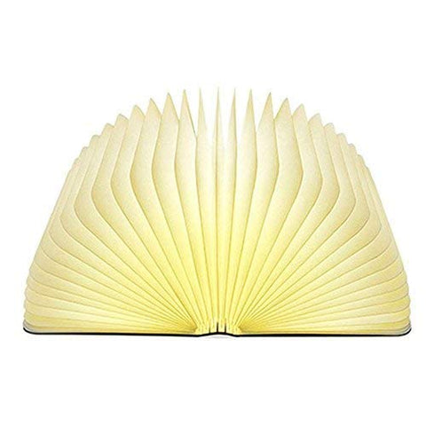 Book Light,Wood Grain Folding Book Lamp, Night Light Magicfly USB Rechargable Book Shaped Light ,2 Colors Led Table Lamp for Decor, Magnetic Design, Environmentally Material - llightsdaddy - momo - Book Lights