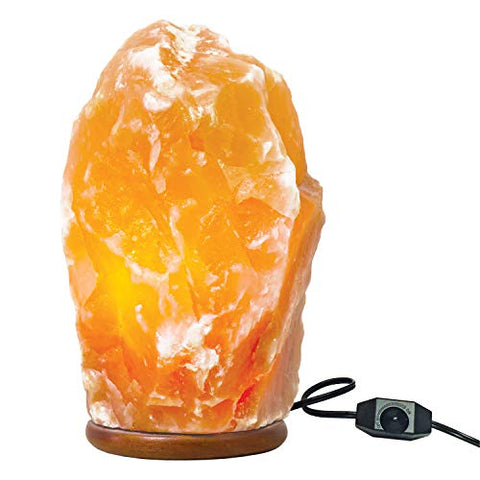 Large Himalayan Rock Salt Lamp Pink Salt Crystal Natural Authentic Hand Carved Decor Lighting Dimmable – 8.5-10 Inches Tall - llightsdaddy - My Perfect Nights - Salt Lamps