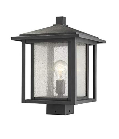 1 Light Outdoor Post Mount Fixture - 554PHBS-BK  Z-Lite Flush mounts llightsdaddy.myshopify.com lightsdaddy