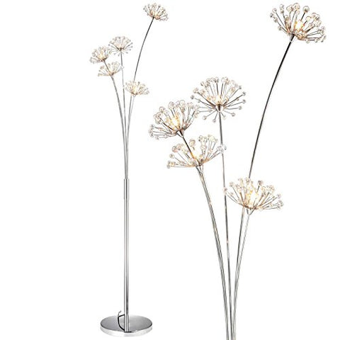 Dandelion Floor Lamp Height 1750mm/68.90in Crystal Flower Decorative LED Steel Standing Lamps - llightsdaddy - DX - Lamp Shades