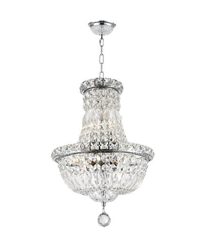 "Worldwide-Lighting-Empire-Collection-6-Light-Chrome-Finish-Crystal-Chandelier-12""-D-x-16""-H-Round-Mini"