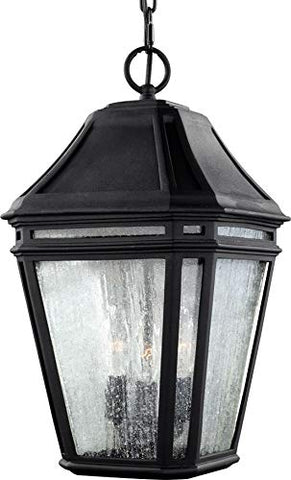"Feiss OL11311BK Londontowne Marine Grade Outdoor Lighting Pendant Lantern, Black, 3-Light (10""W x 17""H) 180watts - llightsdaddy - Feiss - Ceiling Lights"