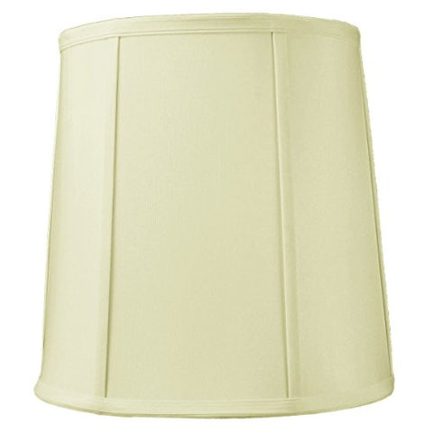 10x12x12 Egg Shell Shantung Drum Lampshade with Brass Spider fitter By Home Concept - Perfect for table and desk lamps - Medium, Egg Shell - llightsdaddy - HomeConcept - Lamp Shades