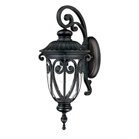 Acclaim 2112BK Naples Collection 1-Light Wall Mount Outdoor Light Fixture, Matte Black