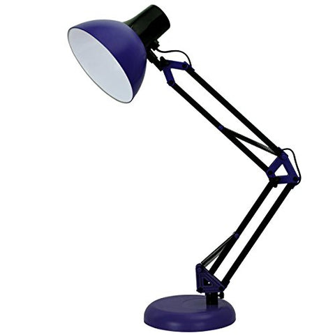 ToJane Blue Desk Lamp, Adjustable Swing Arm Small Desk Lamp for Bedrooms,Flexible Clamp Table Lamp