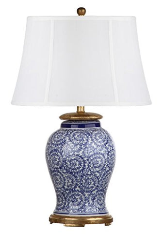 "Decorator's Lighting 15402 Ceramic Table Lamp, 28.5"" H, Blue/White"