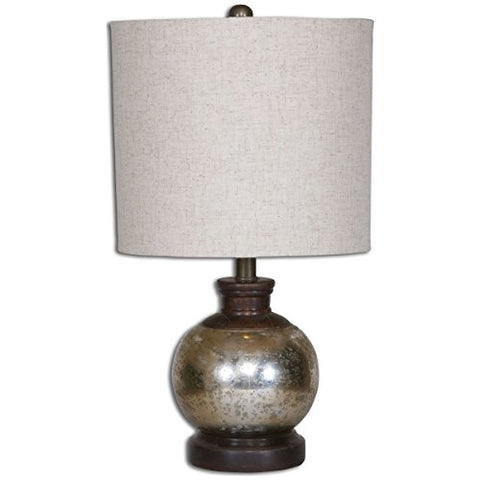Uttermost 26208-1 Arago Antique Glass Table Lamp, Beige