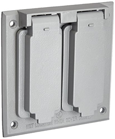 Morris 37250 2 GFCI/Decorative Receptacle 2-Gangs Weatherproof Cover - llightsdaddy - Morris - Wall Plates