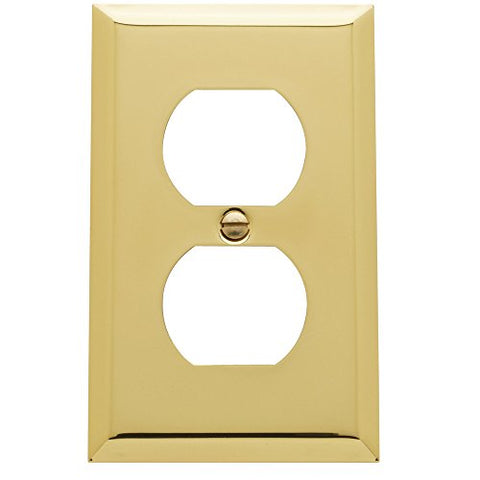 "Baldwin Estate 4752.030.CD Square Beveled Edge Duplex Wall Plate in Polished Brass, 4.5""x2.75"" - llightsdaddy - Baldwin - Lamp Post Mounts"