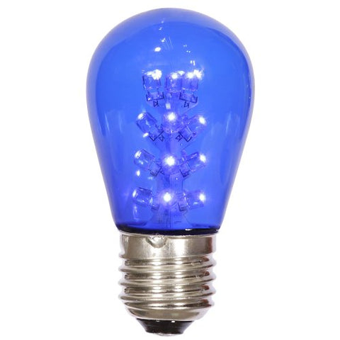 Vickerman X14ST12 S14 LED Transparent Glass with 1.3W & 130V, Blue