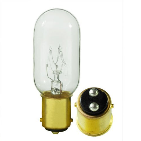 Satco S3909 130V DC Bayonet Base 25-Watt T8 Light Bulb, Clear - llightsdaddy - Satco - Incandescent Bulbs