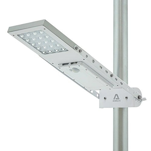 ALPHA 1080X Street Light , 3-Mode Setting, Lithium Battery, Adjustable Mounting Bracket for Optimum Sunlight Exposure, Fit Max Pole Diameter 3""