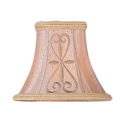 Livex Lighting S331 Hand Embroidered Silk Clip Chandelier Shade - llightsdaddy - Livex Lighting - Fixture Replacement Globes & Shades