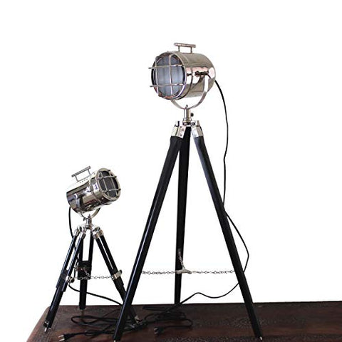 LED Searchlight Marine Small and Big Floor Lamp Combo Vintage Home Decorative Spotlight and Table Lamp - Hollywood Article - Tom Cruse Favorite - llightsdaddy - Collectibles Buy - Table Lamp
