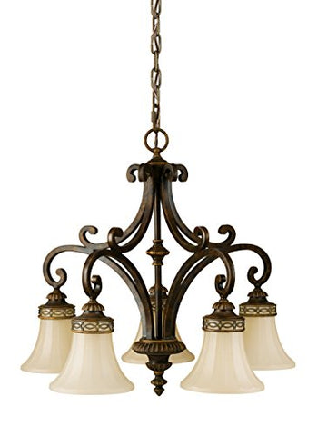Sea-Gull-Lighting-F2397/5WAL-Drawing-Room-Five-Light-Kitchen-Chandelier,-Walnut