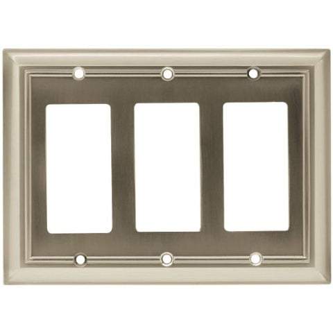 Brainerd 65165 Architectural Triple Decorator Wall Plate / Switch Plate / Cover