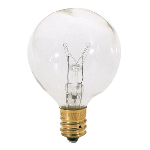 Satco S3845 120V Candelabra Base 15-Watt G12.5 Light Bulb, Clear - llightsdaddy - Satco - Wall Plates