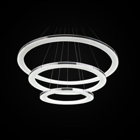 LightInTheBox Pendant Light Modern Design LED Living Three Rings Modern Simple Ceiling Light Fixture Chandeliers Lighting, Color=White
