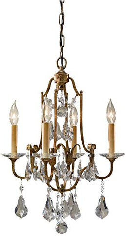 Feiss F2480/4OBZ Valentina Crystal Candle Chandelier Lighting Bronze 4-Light (16Dia x 22H) 240watts