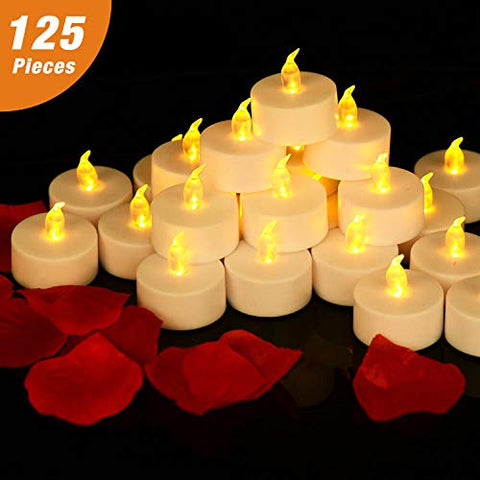 RY King 125 Pack Battery Operated Flameless Tea Lights LED Candles - llightsdaddy - RY King - Flameless Candles