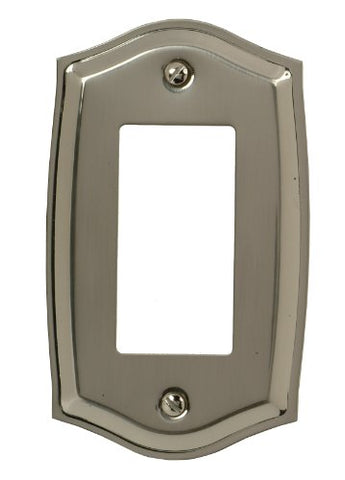 Amerelle Decor Collection Nickel Rocker Wall Plate (Solid Brass) - llightsdaddy - AmerTac - Wall Plates