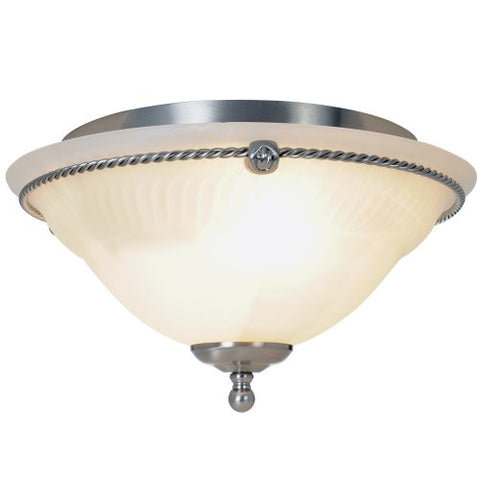 Monument Lighting 617026 13-Inch D by 7 1/4-Inch H Torino Lighting Collection 2 Light Ceiling Flush Mount Brushed Nickel